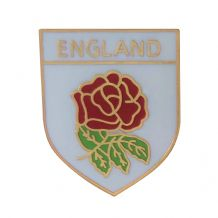 England Rose Shield Pin Badge
